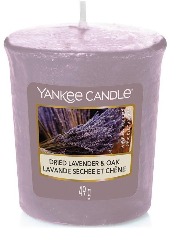 Yankee Candle votivní svíčka Dried Lavender & Oak 49g