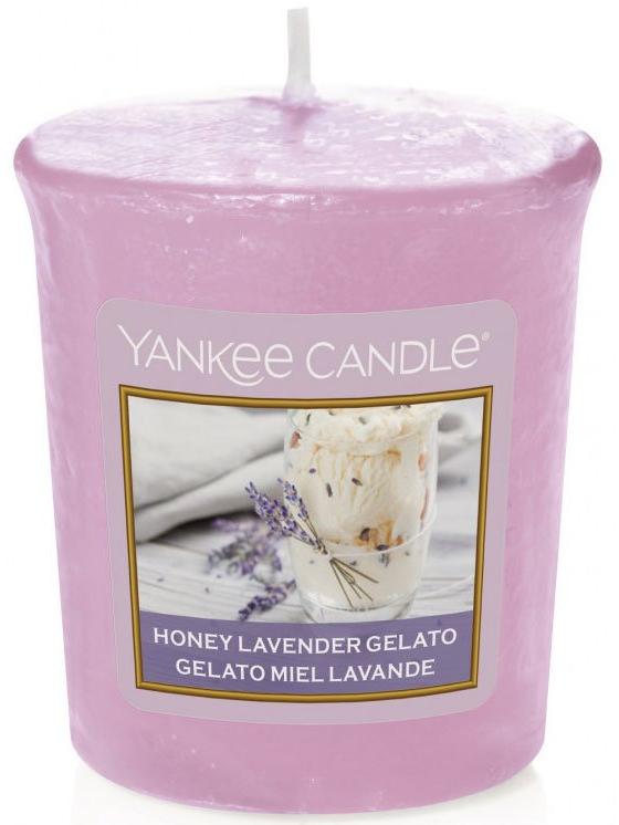 Yankee Candle Votivní svíčka Honey Lavender Gelato 49g