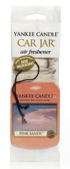 Yankee Candle Osvěžovač do auta Růžové písky 1x papírová visačka