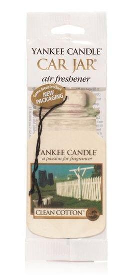 Yankee Candle Osvěžovač do auta Čistá bavlna 1x papírová visačka